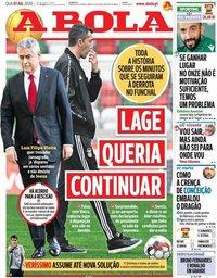 capa Jornal A Bola de 1 julho 2020