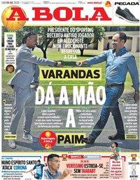 capa Jornal A Bola de 4 julho 2020