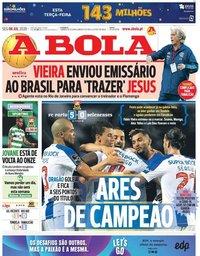 capa Jornal A Bola de 6 julho 2020