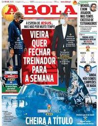capa Jornal A Bola de 9 julho 2020