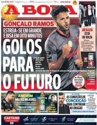 capa Jornal A Bola de 22 julho 2020