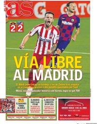 capa Jornal As de 1 julho 2020