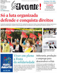 capa Jornal Avante de 16 julho 2020