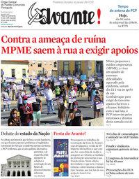 capa Jornal Avante de 29 julho 2020