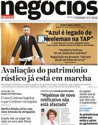 capa Jornal de Negócios de 6 julho 2020