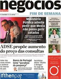 capa Jornal de Negócios de 10 julho 2020