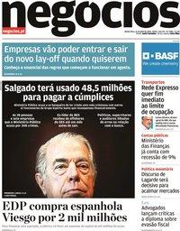 capa Jornal de Negócios de 16 julho 2020
