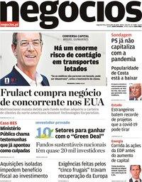 capa Jornal de Negócios de 20 julho 2020