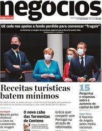 capa Jornal de Negócios de 21 julho 2020