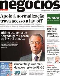 capa Jornal de Negócios de 23 julho 2020