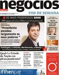capa Jornal de Negócios de 24 julho 2020