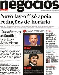 capa Jornal de Negócios de 28 julho 2020