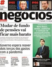 capa Jornal de Negócios de 29 julho 2020