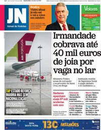 capa Jornal de Notícias de 1 julho 2020