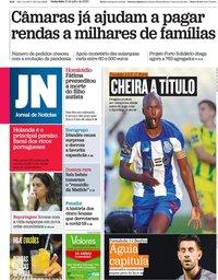 capa Jornal de Notícias de 10 julho 2020