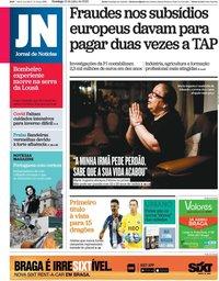 capa Jornal de Notícias de 12 julho 2020