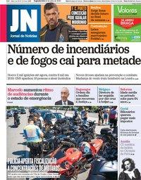 capa Jornal de Notícias de 13 julho 2020