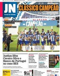 capa Jornal de Notícias de 16 julho 2020