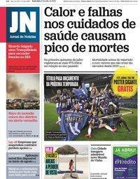 capa Jornal de Notícias de 17 julho 2020