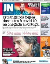 capa Jornal de Notícias de 18 julho 2020