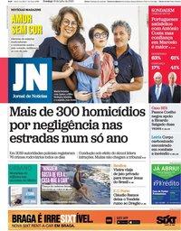 capa Jornal de Notícias de 19 julho 2020