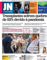 capa Jornal de Notícias de 20 julho 2020