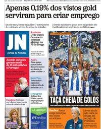 capa Jornal de Notícias de 21 julho 2020
