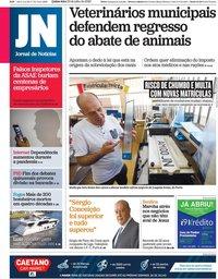 capa Jornal de Notícias de 23 julho 2020