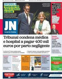 capa Jornal de Notícias de 25 julho 2020