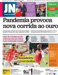 capa Jornal de Notícias de 26 julho 2020