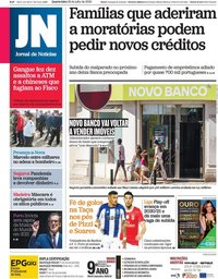 capa Jornal de Notícias de 29 julho 2020