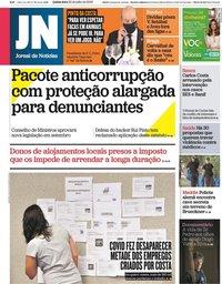 capa Jornal de Notícias de 30 julho 2020