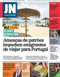 capa Jornal de Notícias de 31 julho 2020