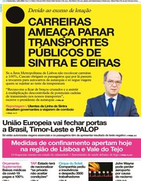 capa Jornal i de 1 julho 2020
