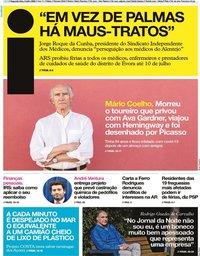 capa Jornal i de 6 julho 2020