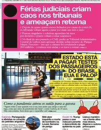 capa Jornal i de 13 julho 2020