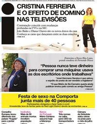 capa Jornal i de 20 julho 2020