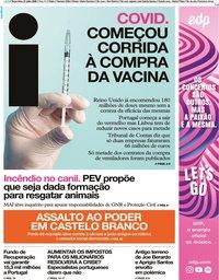 capa Jornal i de 21 julho 2020
