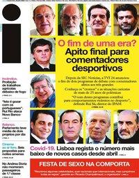 capa Jornal i de 29 julho 2020