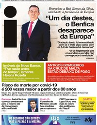 capa Jornal i de 30 julho 2020
