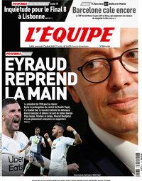 capa Jornal L'Équipe de 1 julho 2020