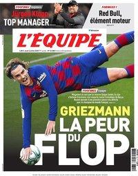 capa Jornal L'Équipe de 2 julho 2020