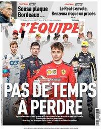 capa Jornal L'Équipe de 3 julho 2020