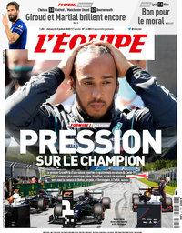 capa Jornal L'Équipe de 5 julho 2020