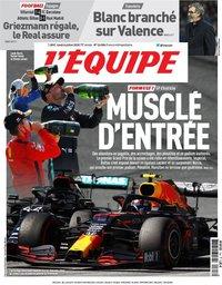 capa Jornal L'Équipe de 6 julho 2020