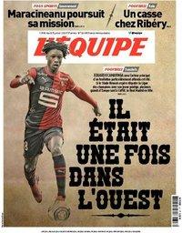 capa Jornal L'Équipe de 7 julho 2020