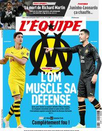 capa Jornal L'Équipe de 8 julho 2020