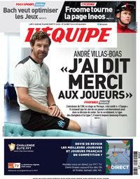 capa Jornal L'Équipe de 10 julho 2020