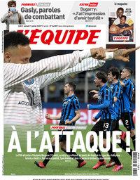 capa Jornal L'Équipe de 11 julho 2020