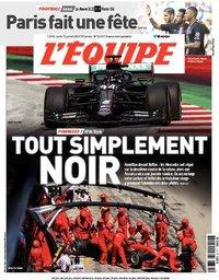 capa Jornal L'Équipe de 13 julho 2020